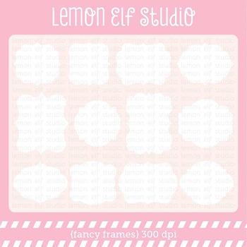 Fancy Frames-Digital Clipart (LES.CL31)