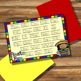 Fiesta Fun Dotted Letter with Line Alphabet Practice Mat D
