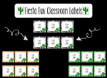 Fiesta Fun Editable Classroom Labels