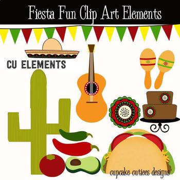 Fiesta Fun- Taco Tuesday Digital Clip Art Elements