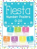 Fiesta Inspired Number Posters 0-20