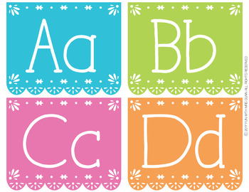Fiesta Inspired Word Wall Alphabet