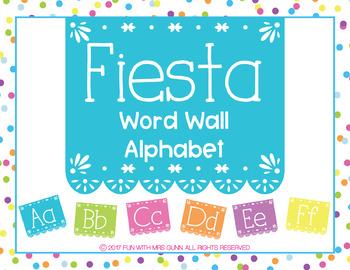 Fiesta Inspired Word Wall Alphabet