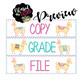Fiesta Llama Teacher To-Do Organizer Labels *editable*