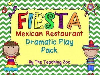 Fiesta Mexican Restaurant Dramatic Play Pack
