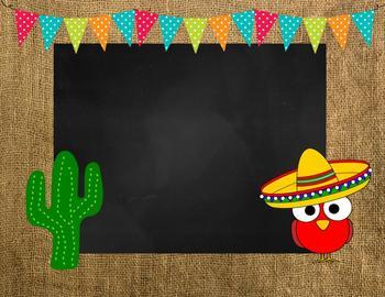 Fiesta/ Mexican classroom Bundle