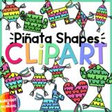 Fiesta Shapes Clipart -  Piñata Shapes - Pinata Clip art -