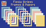 Stripes and Dots Clip Art