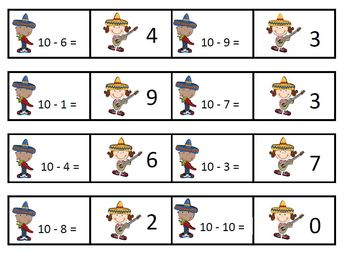 Fiesta Subtraction Facts Freebie