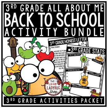 Taco Bout Me Back To School Activities 3rd Grade All About Me First Day Activity