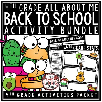 TACO Theme Back To School Activities 4th Grade All About Me & Taco Bout Me