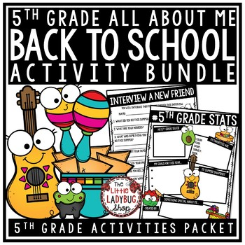 Taco Bout Me Back To School Activities 5th Grade All About Me First Day Activity
