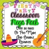 Fiesta Themed Classroom Decor - EDITABLE