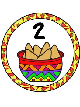 Fiesta Table Numbers 1-8