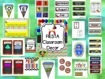 Fiesta Themed Classroom-Editable