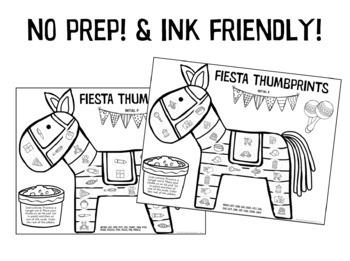 Fiesta Thumbprints: A Speech Therapy Art Activity