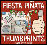 Fiesta Thumbprints: A Speech Therapy Art Activity