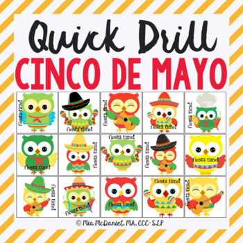 Fiesta Time Quick Drill {for articulation or fluency therapy & RTI}