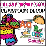 Fiesta and Taco Classroom Decor Bundle - Editable!