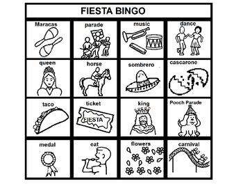 Fiesta/Cinco de Mayo Bingo