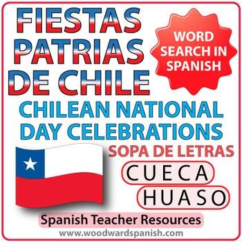 Fiestas Patrias de Chile - Sopa de Letras
