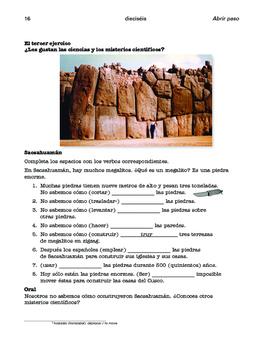 Cuzco / El señor de Sipán; 2 units about indigenous people- SP Intermediate 1