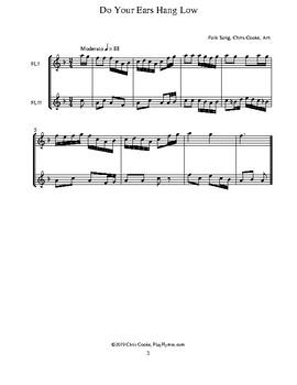 Fifteen Flute Folk Song Duets