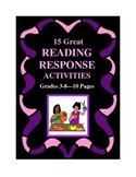 Fifteen Great Reading Response Activities