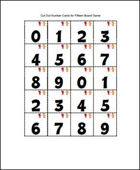 Fifteen Math Board Game