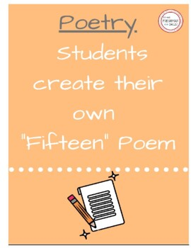 Fifteen Poem Activity- Personal Poem- Freshman