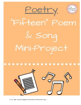 Fifteen Poem EXTENTION Activity- Personal Poem- Freshman