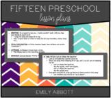 Fifteen Preschool Lesson Plans