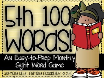 Fifth 100 Sight Words {An Easy to Prep Game}