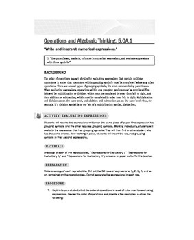 Fifth (5th) Grade Math Common Core Lessons and Activities
