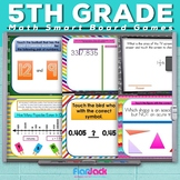 5th Grade Math Smart Board Promethean Flipchart Game Pack