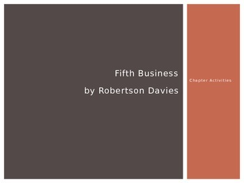 Fifth Business Chapter Activities Powerpoint