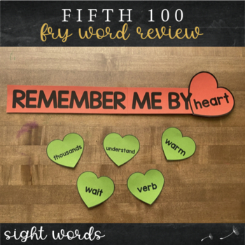 Fifth Fry Sight Words - Word Wall