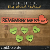 Fifth Fry Sight Words - Heart Word Wall