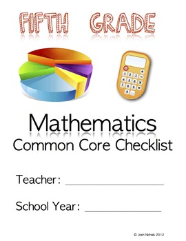 Fifth Grade (5th Grade) CCSS Checklist and Report Document