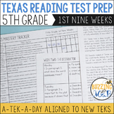 Fifth Grade A TEK-a-Day Reading Test Prep & Review, 1st Nine Weeks