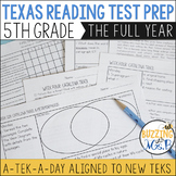 Fifth Grade A TEK-a-Day Reading Test Prep & Review: The Big Bundle