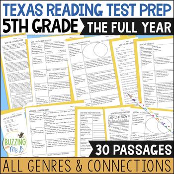 Fifth Grade A TEK-a-Day Reading Test Prep & Review: The Big Bundle