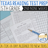 Fifth Grade A TEK-a-Day Reading Test Prep & Review, 2nd Ni