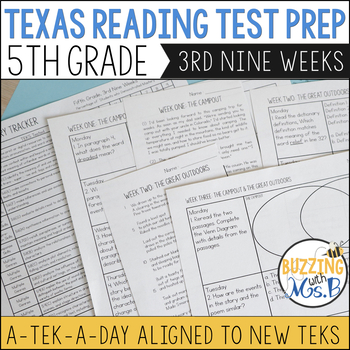 Fifth Grade Texas Reading Test Prep for the 3rd Nine Weeks