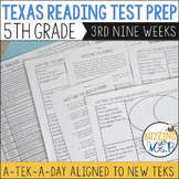Fifth Grade A TEK-a-Day Reading Test Prep & Review, 3rd Ni