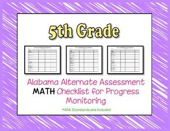 Fifth Grade AAA Math Checklist Progress Monitoring