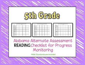 Fifth Grade AAA Reading Checklist Progress Monitoring