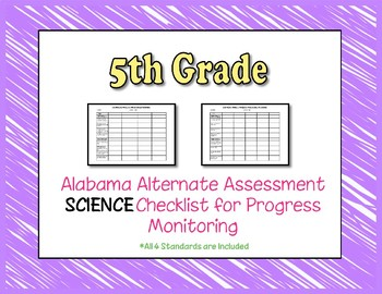 Fifth Grade AAA Science Checklist Progress Monitoring