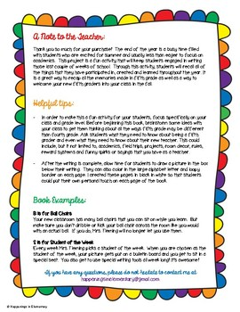 Fifth Grade Advice Book, End of the Year Writing