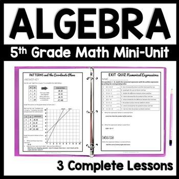Fifth Grade Algebra, 3-Day Lesson Bundle, Operations and Algebraic Thinking